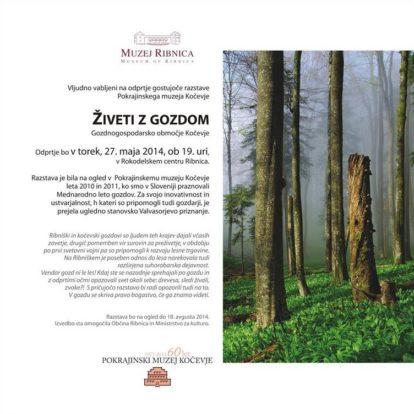 Odprtje gostujoče razstave Pokrajinskega muzeja Kočevje Živeti z gozdom